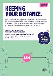 social distance maintain a social distance of 1.5 meters